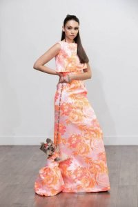 New York designer Anthony Rubio created matching dresses for women and their dogs